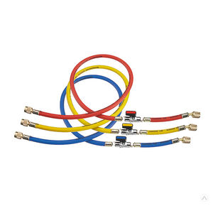 Шланги для фреона с вентилями  Refco  CCL-36CX-1/2-1/4, 3 шт. в комплекте, под R410A