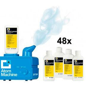 Ультразвуковой распылитель Atom Machine с 48 флаконами жидкости (лимон) RK1393