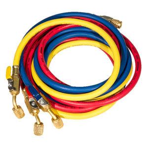 Шланги для фреона с вентилями FavorCool E-336RYB-B (90 см) под R22, R134a, R12